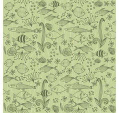 Fishes pattern vector image