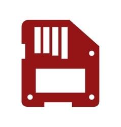 floppy disk over white vector image