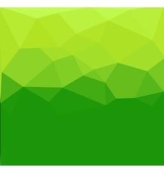 Green polygon abstrac vector image vector image