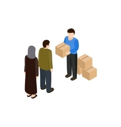 Humanitarian assistance icon isometric 3d style vector
