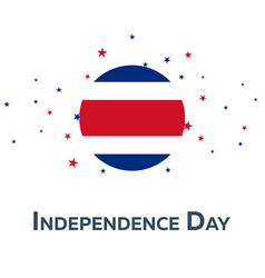 Independence day of costa rica patriotic banner vector