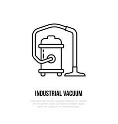 Industrial vacuum cleaner flat line icon logo vector