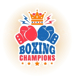 kings boxing dark blue vintage vector image vector image