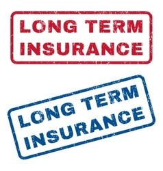 Long term insurance rubber stamps vector