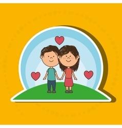 love couple design vector image