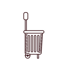 monochrome silhouette of shopping basket with vector image vector image