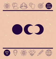 phases of the moon icons vector image vector image