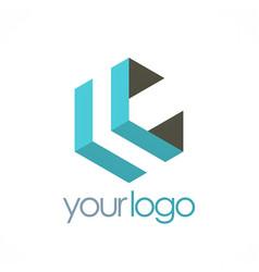shape geometry company logo vector image