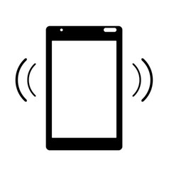 Silhouette mobile phone device connection vector
