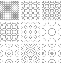 Simple geometric seampless pattern vector image