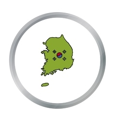 South korea icon in cartoon style isolated on vector