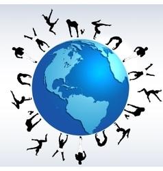 Sports globe world concept vector