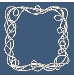 Tangled nautical ropes frame vector