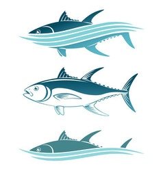 topic of tuna vector image vector image