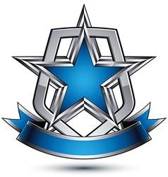 stylized symbol isolated on white background vector image