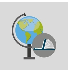 Online learning globe education vector