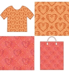 Valentine seamless patterns vector