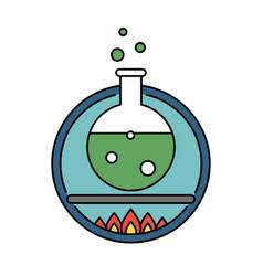 Laboratory tube retro circle icon science vector