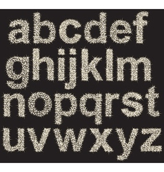 Sparkling alphabet made of shining stars  letters vector image