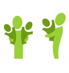 adult and children set vector image