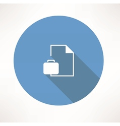 business briefcase with document vector image