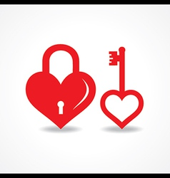 Love lock and key design vector