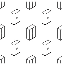 Isometric wardrobe seamless pattern vector