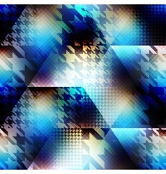 Houndstooth pattern on abstract blur background vector