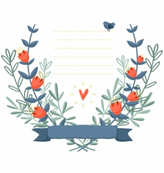 Flower frame background vector