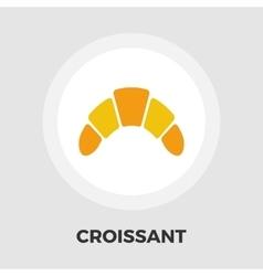Croissant flat icon vector