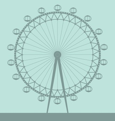 london eye vector image