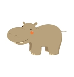 Hippopotamus realistic childish vector