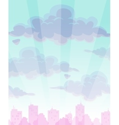 Cartoon cloudy sky background vector