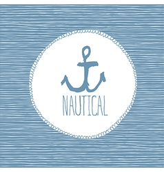 anchor nautical card vector image