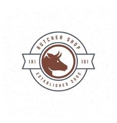 Butcher Shop Design Element in Vintage Style vector image