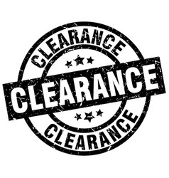 clearance round grunge black stamp vector image vector image