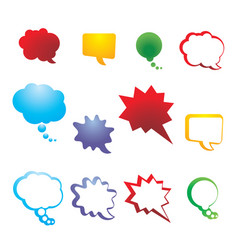 collection speech and thought communication vector image
