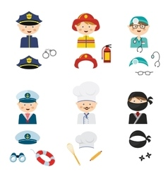 cute cartoon set of costumed kids with different vector image vector image