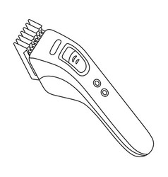 Electric hair clipperbarbershop single icon in vector
