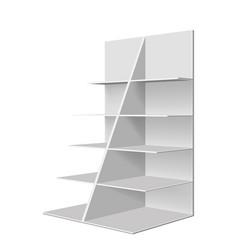 empty showcase vector image vector image