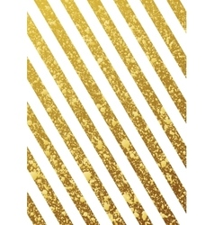 Gold glittering seamless lines pattern on white vector image