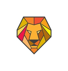 Lion Head Low Polygon vector image vector image