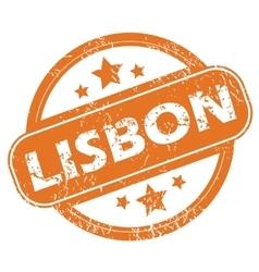 Lisbon round stamp vector