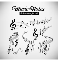 Musical staves vector image vector image