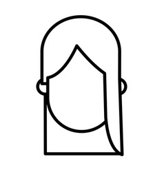 Outlined character woman female desing vector
