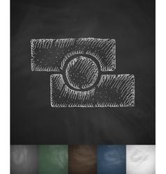 Photo editor icon hand drawn vector