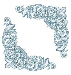 retro corner vector image