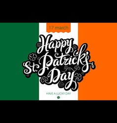 Saint Patricks Day Background with flag of Ireland vector image vector image