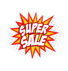 Super sale comic splash vector