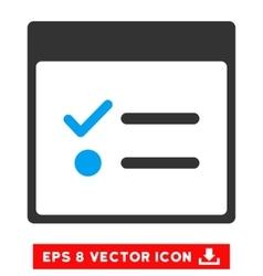 Todo items calendar page eps icon vector
